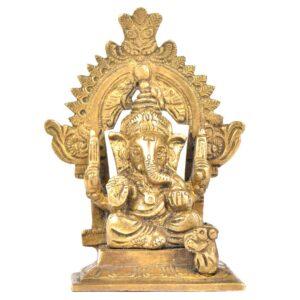 32717Brass-Ganpati-With-Kirtimukha-Top-And-Prabhavali-NSP-52-(1)